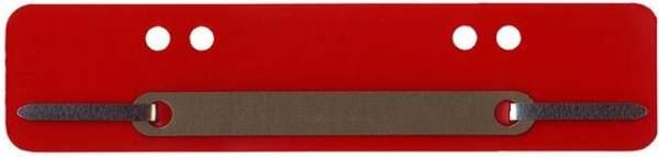 Heftstreifen PP Metalldeckleiste kurz 34x150mm rot 100St.