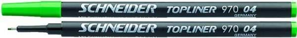 Finelinermine Mine Schneider Topliner 970 0.4mm grün 10 Stück