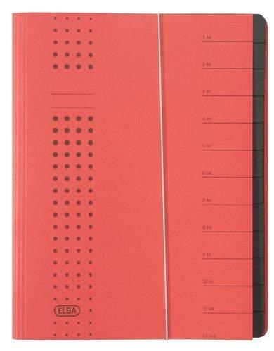 Ordnungsmappe Elba Chic Längsgummi A4 12 Fächer rot / 1 St