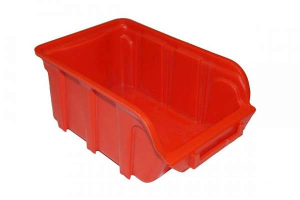 Sichtlagerkasten PP 1 Liter 160x100x70mm stapelbar rot
