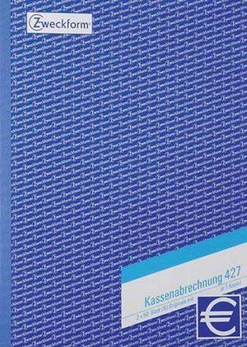 Kassenabrechnungsblock Zweckform 427 A4 2x50 Bl. 2-fach bedruckt