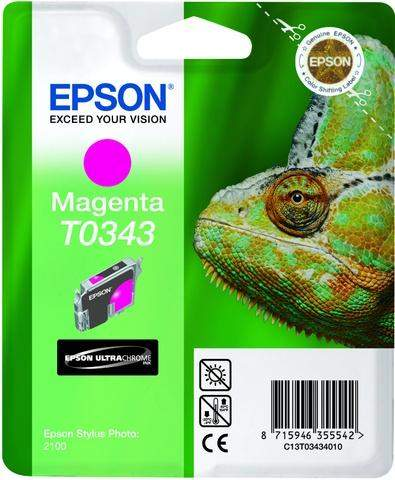 Tintenpatrone Epson C13T03434010 magenta 17ml 440 Seiten