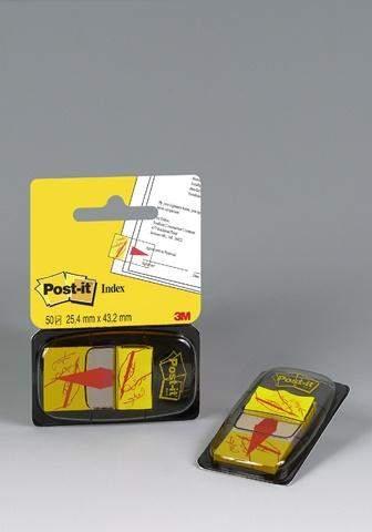 Haftmarker Post-It Index Haftstreifen 25,4x43,2mm mit Symbol Unterschrift gelb