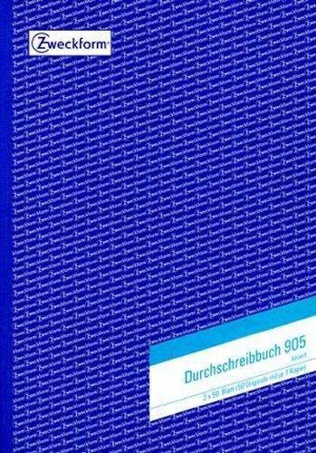 Durchschreibebuch Zweckform 905 A4 2x50 Blatt liniert