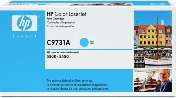Toner HP C9731A cyan 12.000 Seiten f. LaserJet 5500