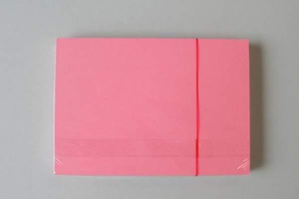 Karteikarten blanko DIN A7 rosa / rot (Pckg. á 100 Stück)