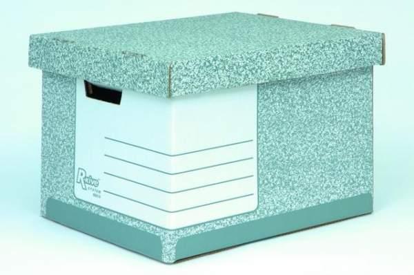 Archivbox Wellpappe B-Flute 33,3x39x28,5cm grau / weiß