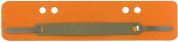 Heftstreifen PP Metalldeckleiste kurz 34x150mm orange 100St.