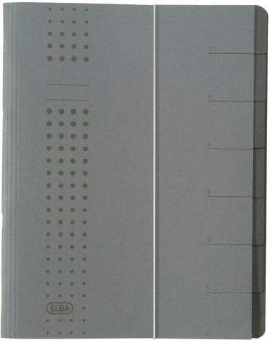 Ordnungsmappe Elba Chic 7 Fächer aus Karton A4 anthrazit 1 St.