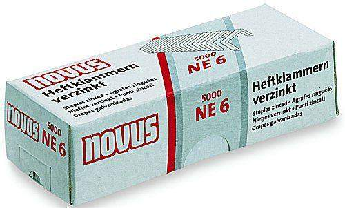 Heftklammern NE6 verzinkt für Elektro Heftgeräte von Novus (5000 Stück)
