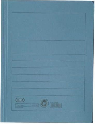 Einschlagmappe Aktenmappe Elba 31460 Karton 250g A4 blau 1St.