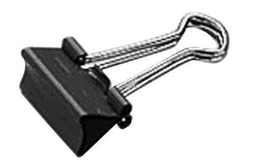 Klemmer Foldback 51mm breit Klemmweite 28mm schwarz VE=12St.