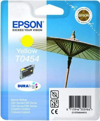 Tintenpatrone Epson C13T04544010 gelb 8ml 250 Seiten original