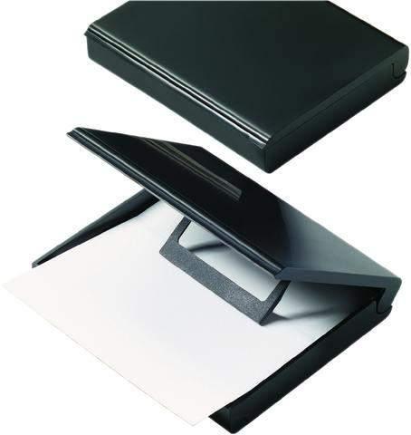 Zettelkasten helit DIN A7 mit Deckel schwarz 1 St.