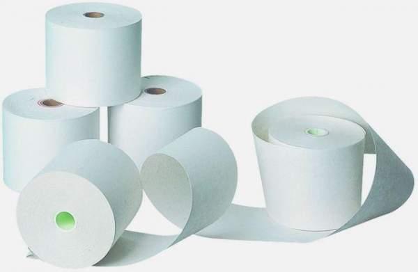 Addi-Rollen 40 m lang 57 mm breit chlorfrei gebleicht Additionsrollen