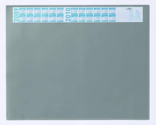 Schreibunterlage 52x65cm grau mit Vollsichtplatte DURABLE