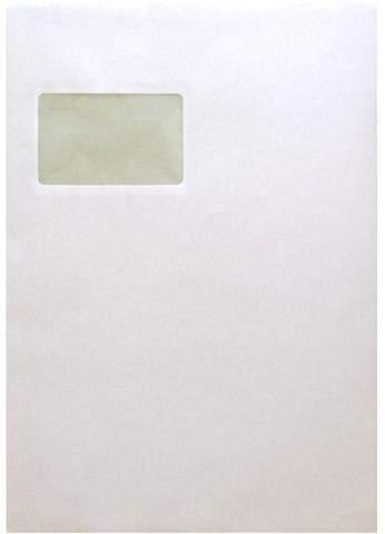 Versandtasche C4 100g/m² mit Fenster sk weiss (50 Stück)
