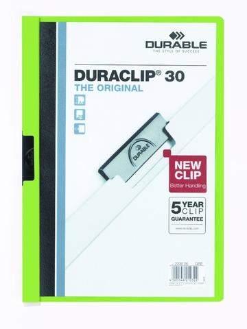 """Klemm-Mappe """"Duraclip"""" DIN A4 grün f. 30 Blatt / 1 Stück"""