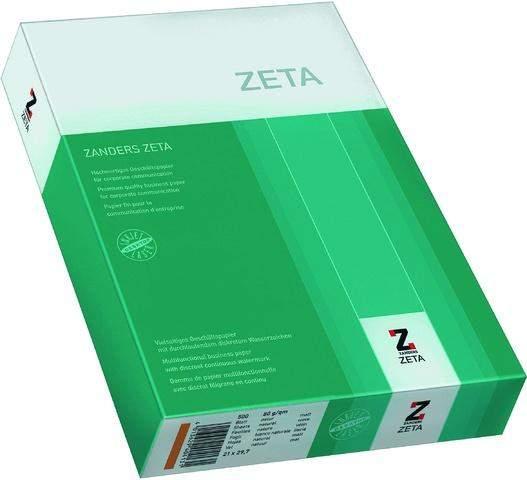 Kopierpapier A4 80g weiß Wasserzeichen Zeta Mattpost / 500 Blatt