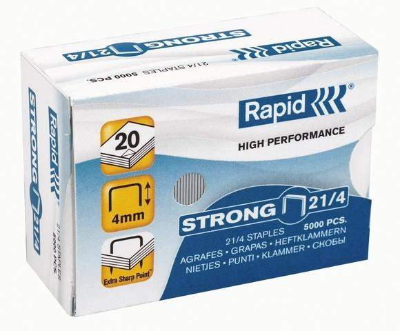 Heftklammer Rapid STRONG 21/4 verzinkt (VE= 5000 St.)