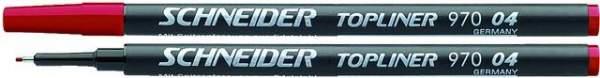 Finelinermine Mine Schneider Topliner 970 0.4mm rot 10 Stück