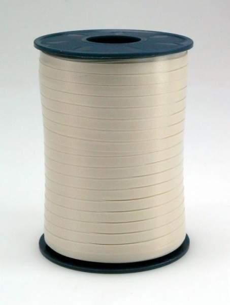 Geschenkband Ringelband 5mmx500m Weiß Cremeweiß 04