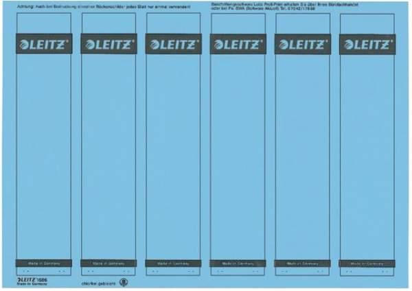 Rückenschilder Leitz 1686 PC-Beschriftung A4 schmal blau 150Stck.