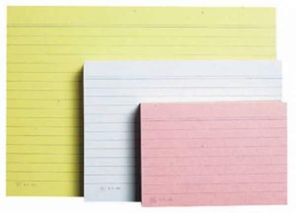 Karteikarten liniert DIN A7 rosa (1 Pckg. á 100 Stck.)