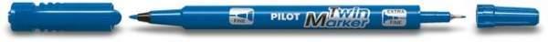 Permanentmarker BEGREEN PILOT Twin Marker Rundspitze 0,3 u. 0,5 mm blau