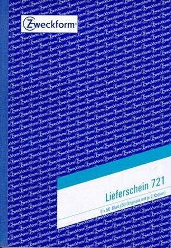 Lieferscheinbuch Zweckform 721 A5 3x50 Blatt 3-fach bedruckt