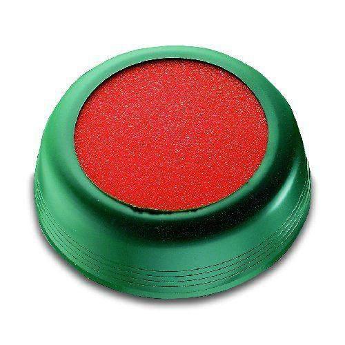 Markenanfeuchter Ø 10cm grün mit Schwamm orange