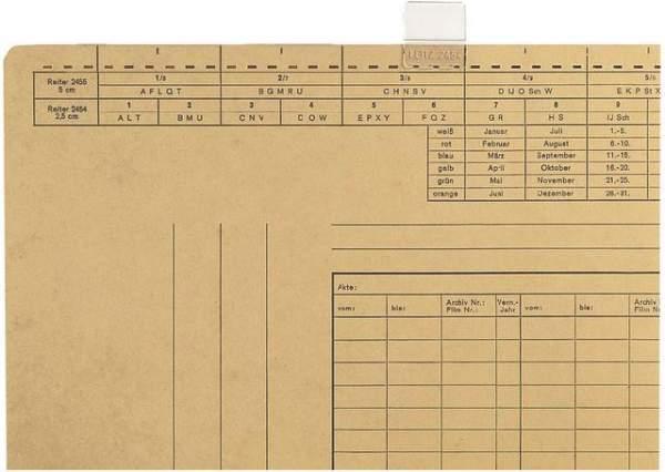 Sichtreiter Leitz 2454 25mm breit 3-zeilig f. Einstellmappen 50St.