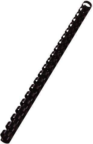 Binderücken Kunststoff 21 Ringe A4 Ø8mm schwarz VE=100St