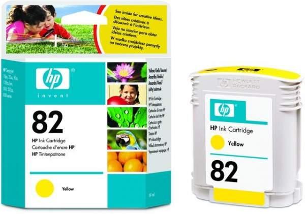 Tintenpatrone HP Nr. 82 C4913A gelb yellow 69 ml