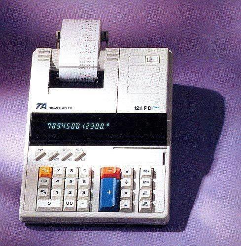Tischrechner Triumph Adler TA121PD plus Eurotaste s/r-Druck
