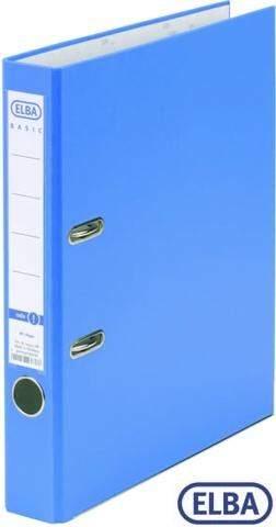 Ordner A4 Elba Rado 10453 Kunststoff-Einband Einsteck Rückenschild hellblau 5cm