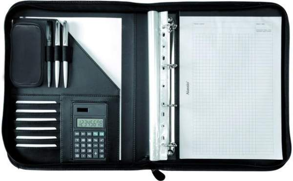Konferenzmappe RICCIONE Kunstleder A4 28,5x35,7cm schwarz