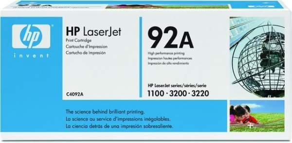 Toner HP 92A C4092A schwarz 2.500 Seiten für Laserjet
