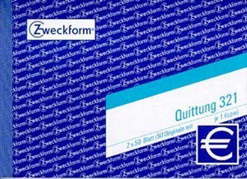 Quittungsblock Zweckform 321 DIN A6 quer 2x50 Blatt / 1 St.