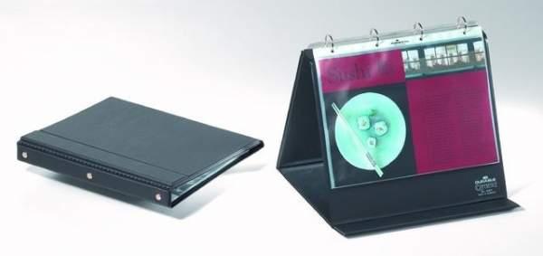 Flip-Chart Ringbuch DIN A4 quer schwarz mit 10 Sichthüllen
