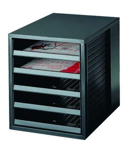 Formularkasten·HAN 1401 mit 5 offenen Schubladen A4 schwarz