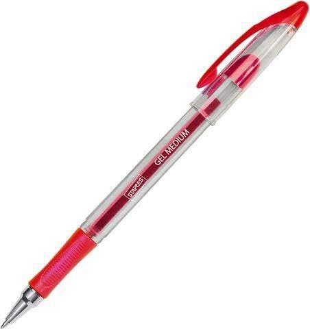 Gelschreiber Kappe mit Clip 0,7mm rot