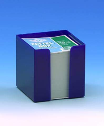 Zettelbox gefüllt blau für 9x9cm Notizzettel inkl. 700 Zettel