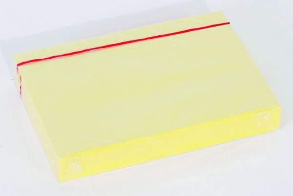 Karteikarten blanko DIN A5 190 g/m² gelb (Pckg. á 100 Stück)