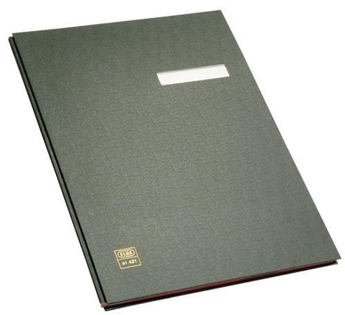 Elba Unterschriftenmappe A4 10 Fächer Folieneinband schwarz Mappe Sammelmappe