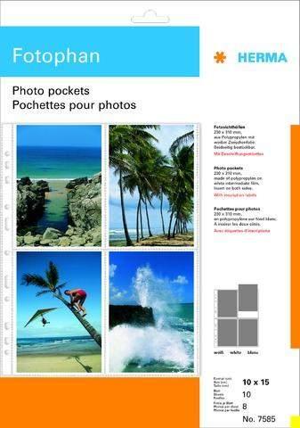Foto-Sichthüllen A4 Herma 7585 Fotophan 10x15 hoch 10 Hüllen/VE