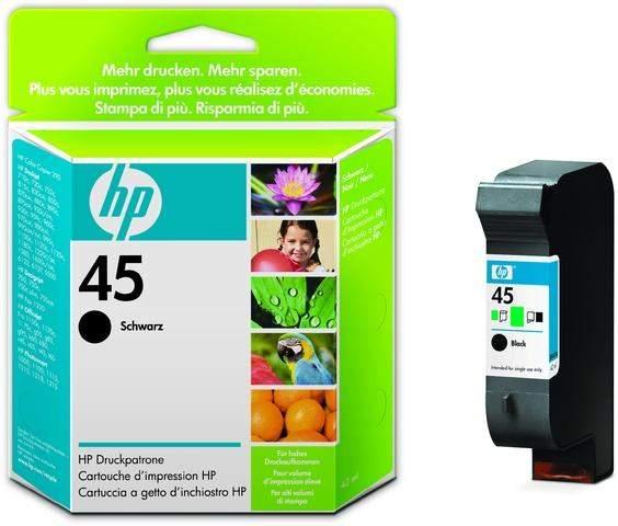 Tintenpatrone HP Nr. 45 51645A schwarz 42 ml