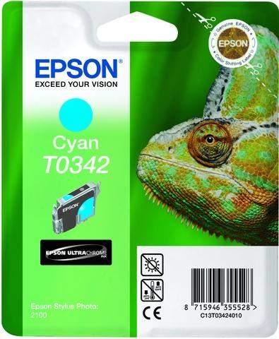 Tintenpatrone Epson T0342 C13T03424010 cyan 17ml 440 Seiten