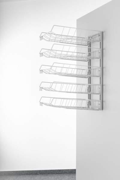 Wandsortieranlage mit Ablagekörben Sorter mit 5 Körben 290x390x555mm lichtgrau