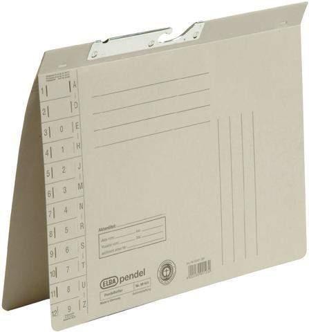 Pendelhefter Elba 90431 Karton 320g Amtsheftung A4 grau